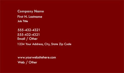 Simple Dark Red Business Card Template
